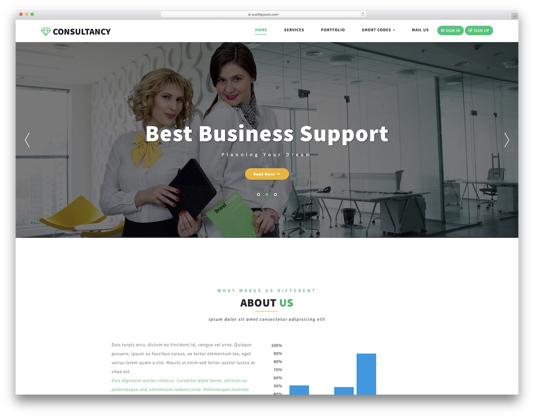 consultancy free lawyer website template