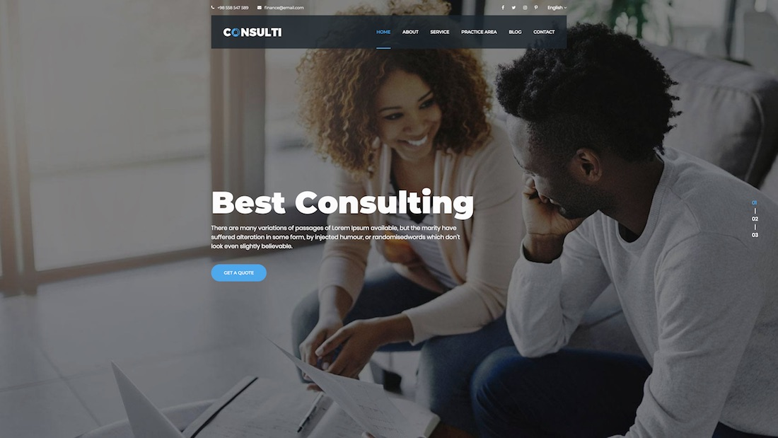 consulti consulting website template