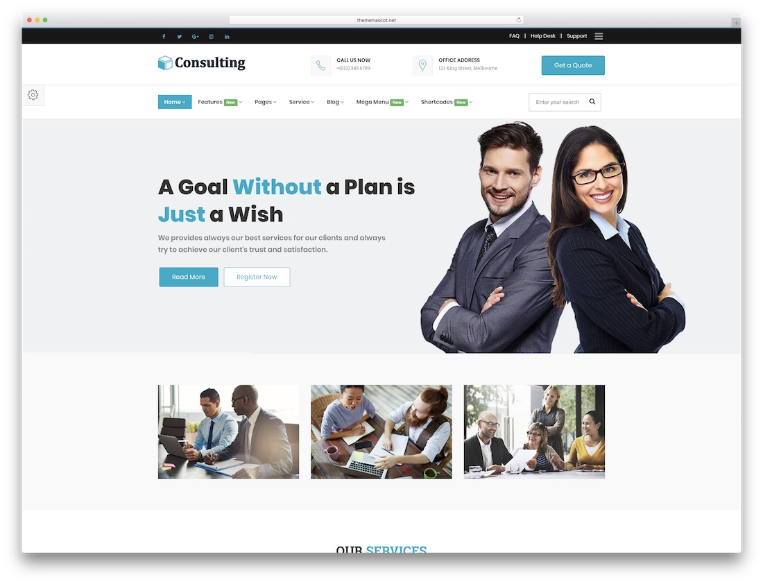 consulting finance cryptocurrency website template