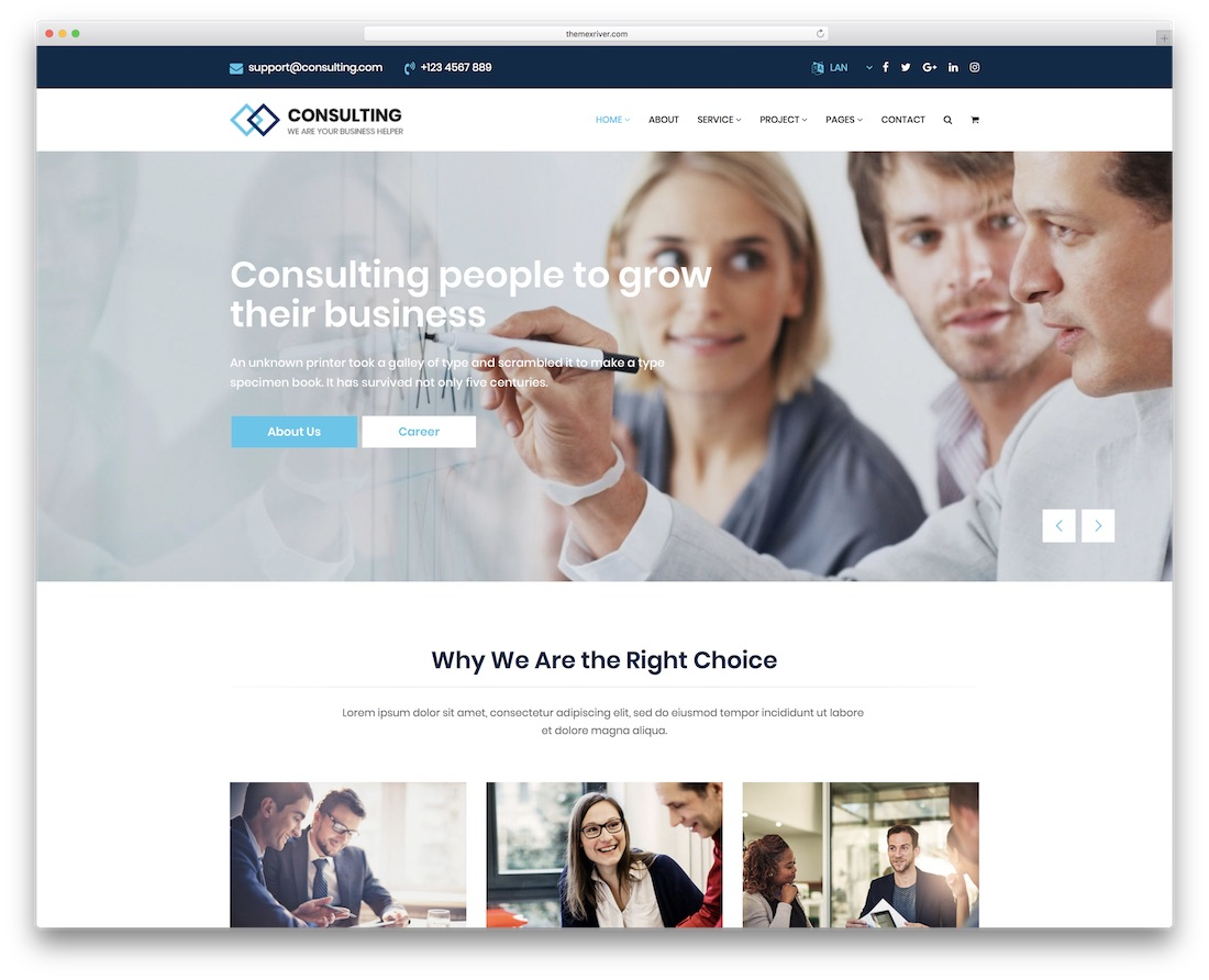 consulting financial website template