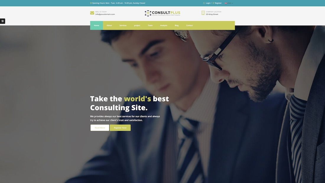 consulting plus consulting website template