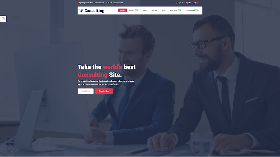 consulting pro professional website template