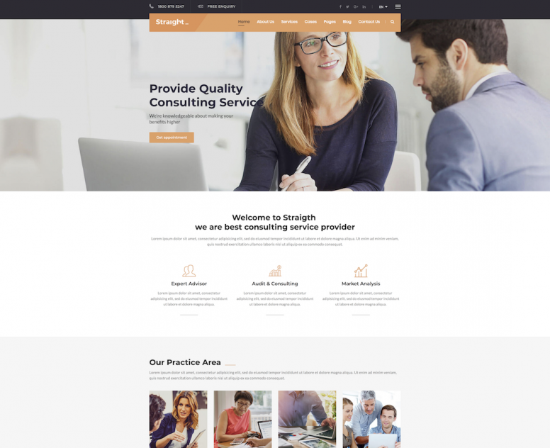 20 Best Consulting Website Templates 2018