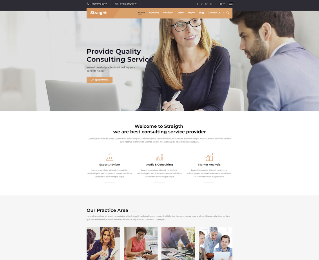 28 Best Consulting Website Templates 2018 Colorlib
