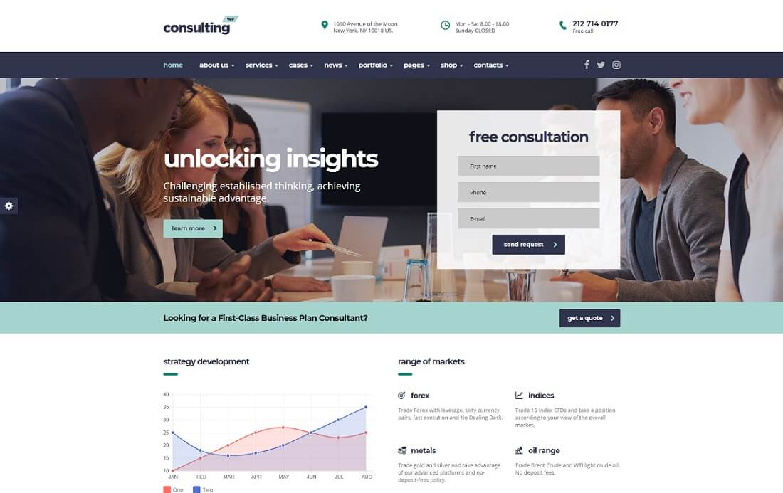 consulting wp cryptocurrency wordpress theme