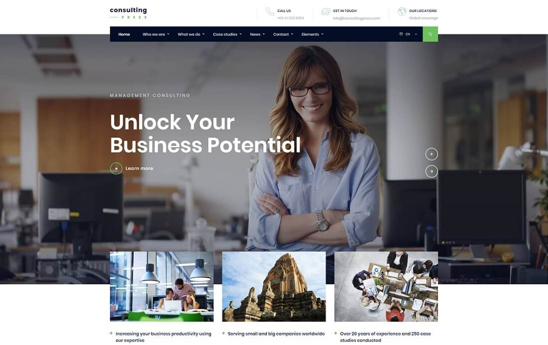 consultingpress bootstrap business website template