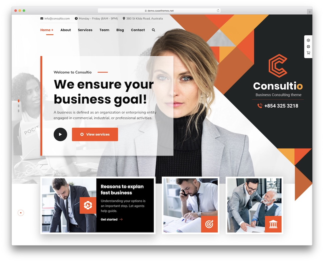 consultio business website template
