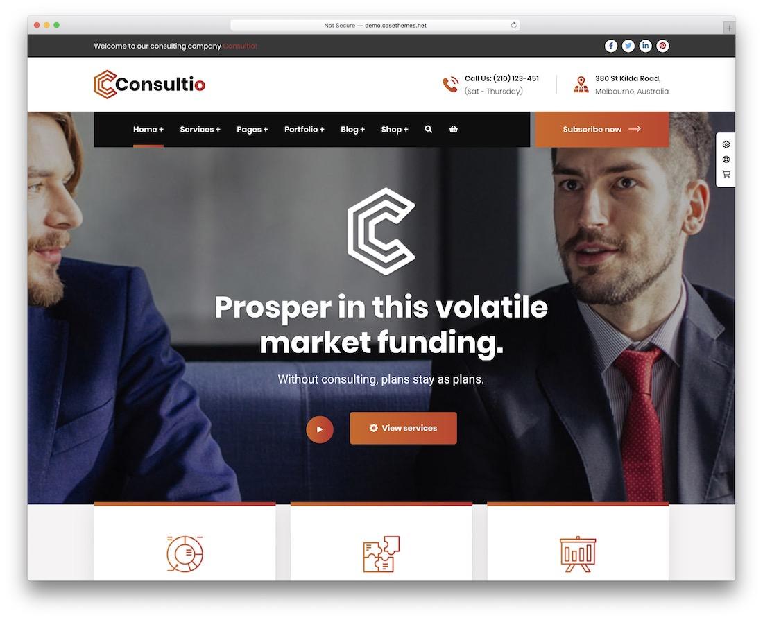 consultio insurance website template