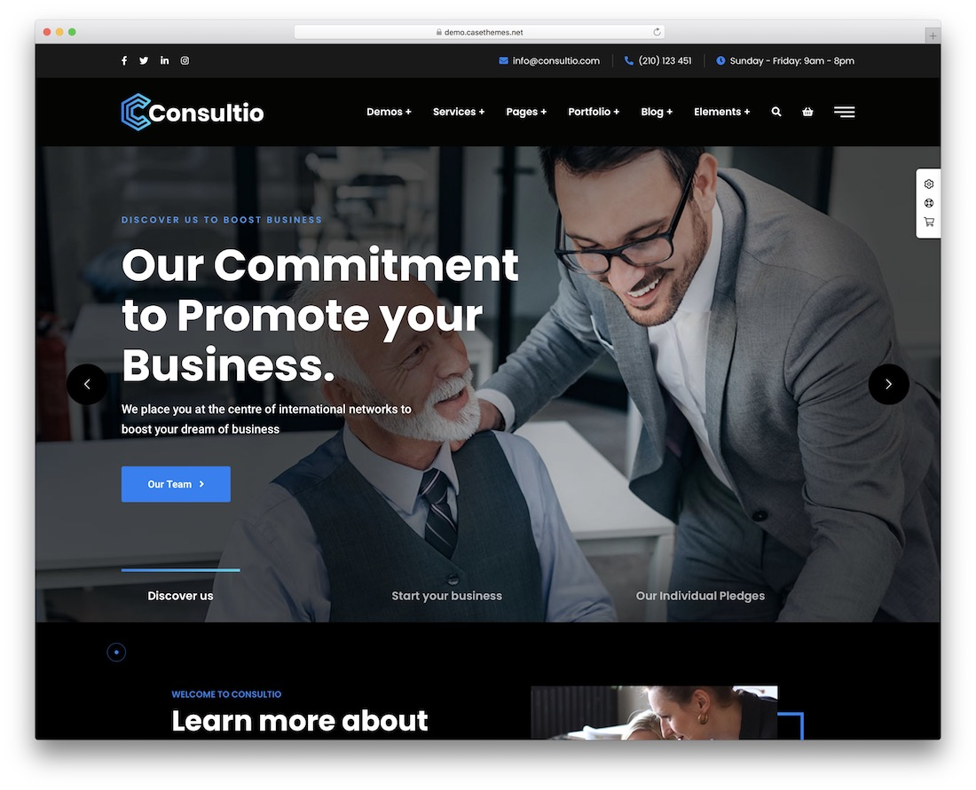 consultio local business wordpress theme