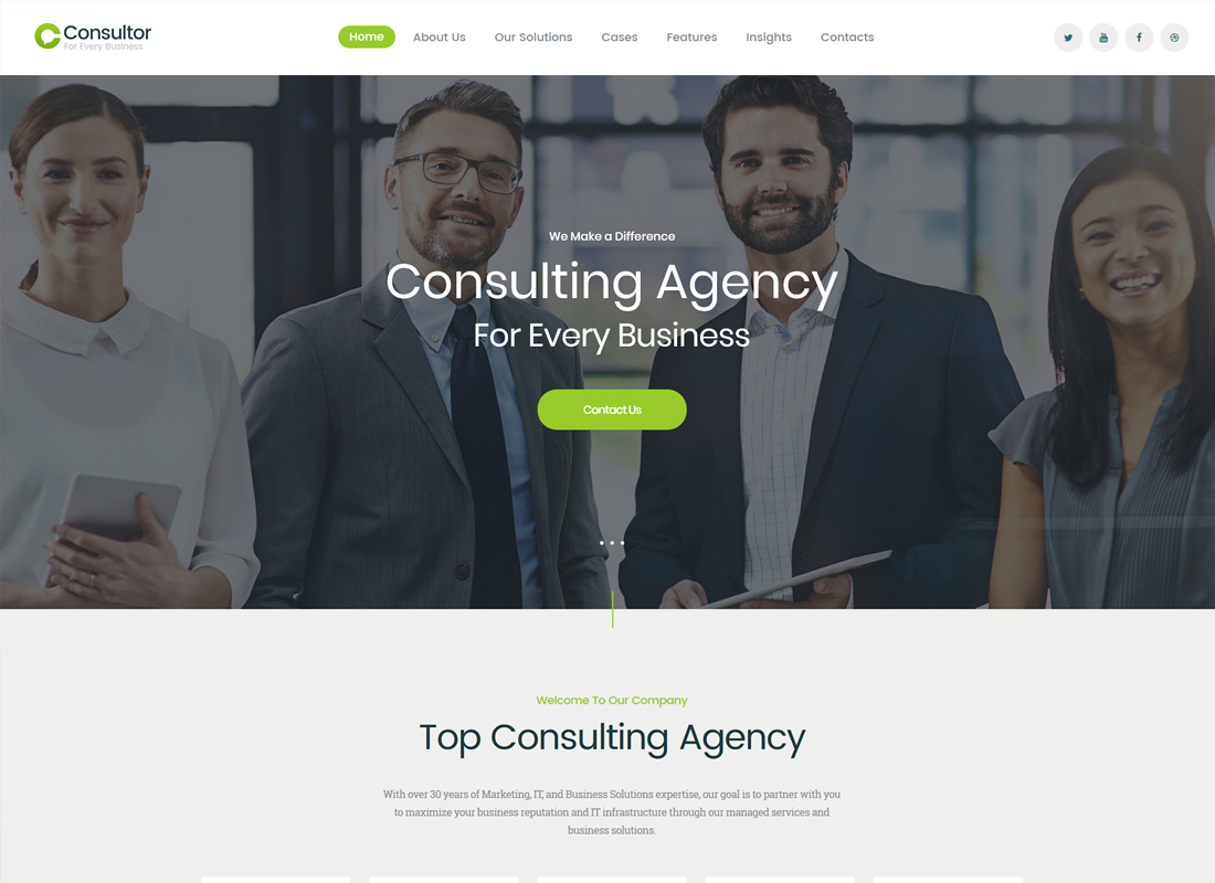 Consultor - A Business Consulting WordPress Theme