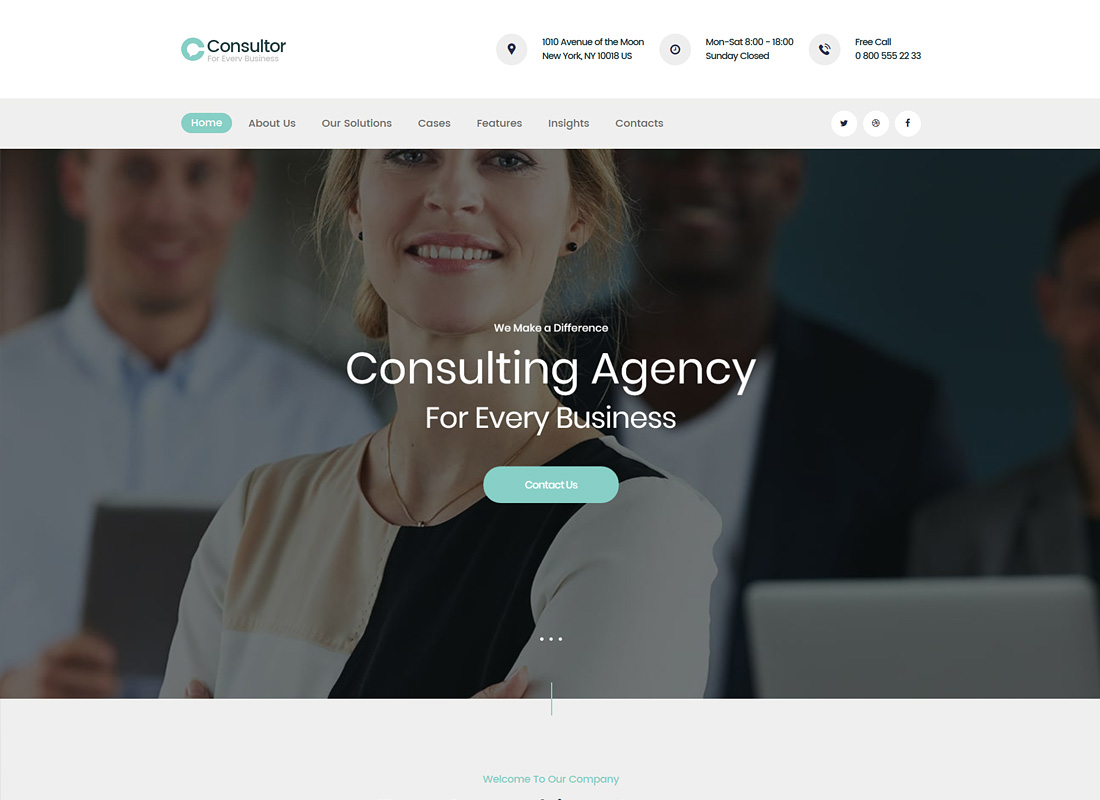 Consultor | A Business Consulting WordPress Theme