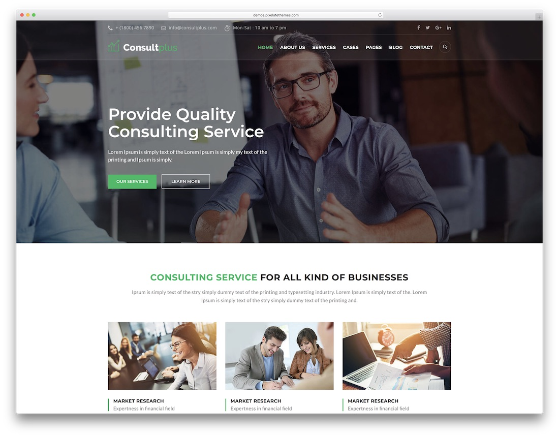 consultplus consulting website template