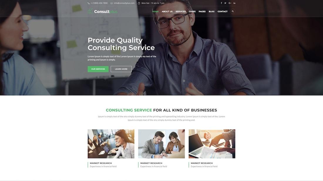 consultplus consulting website template