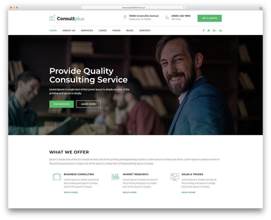 consultplus financial website template