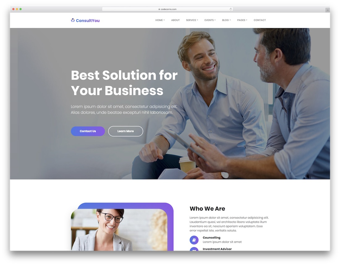 consultyou consulting website template