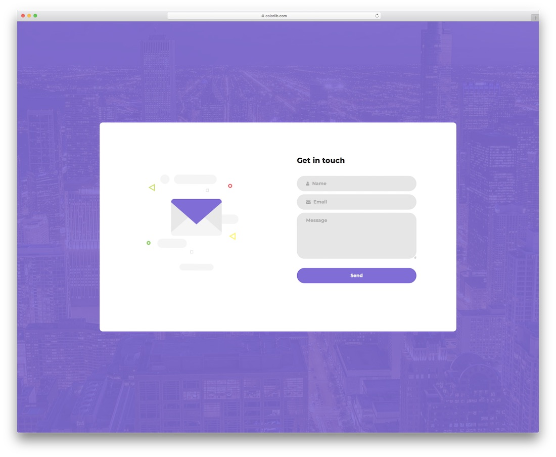 contact form 12 template