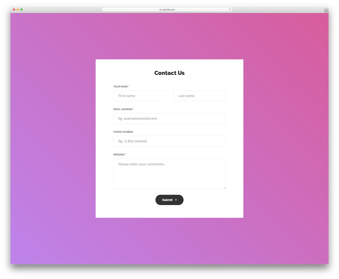 contact form 14 template