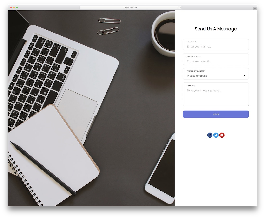 contact form 18 template