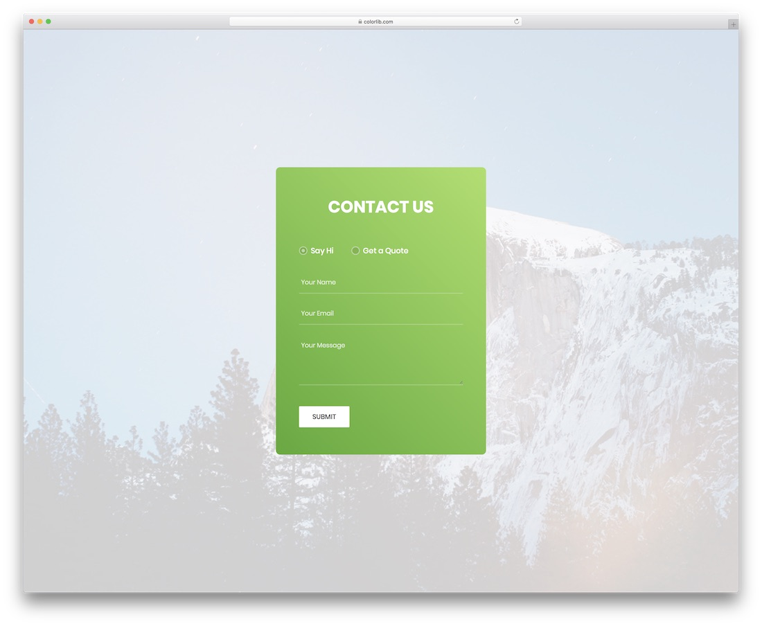 contact form 3 template