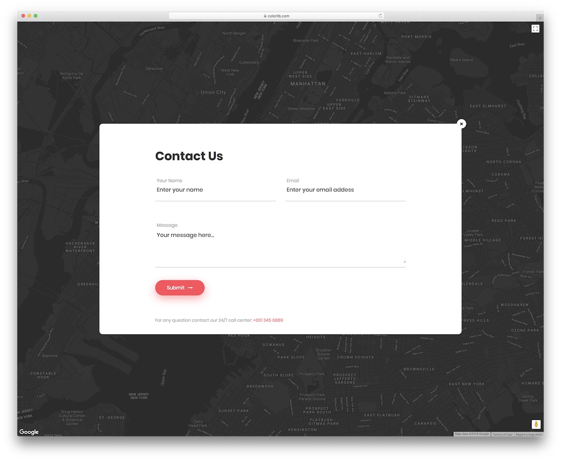 contact form 6 template