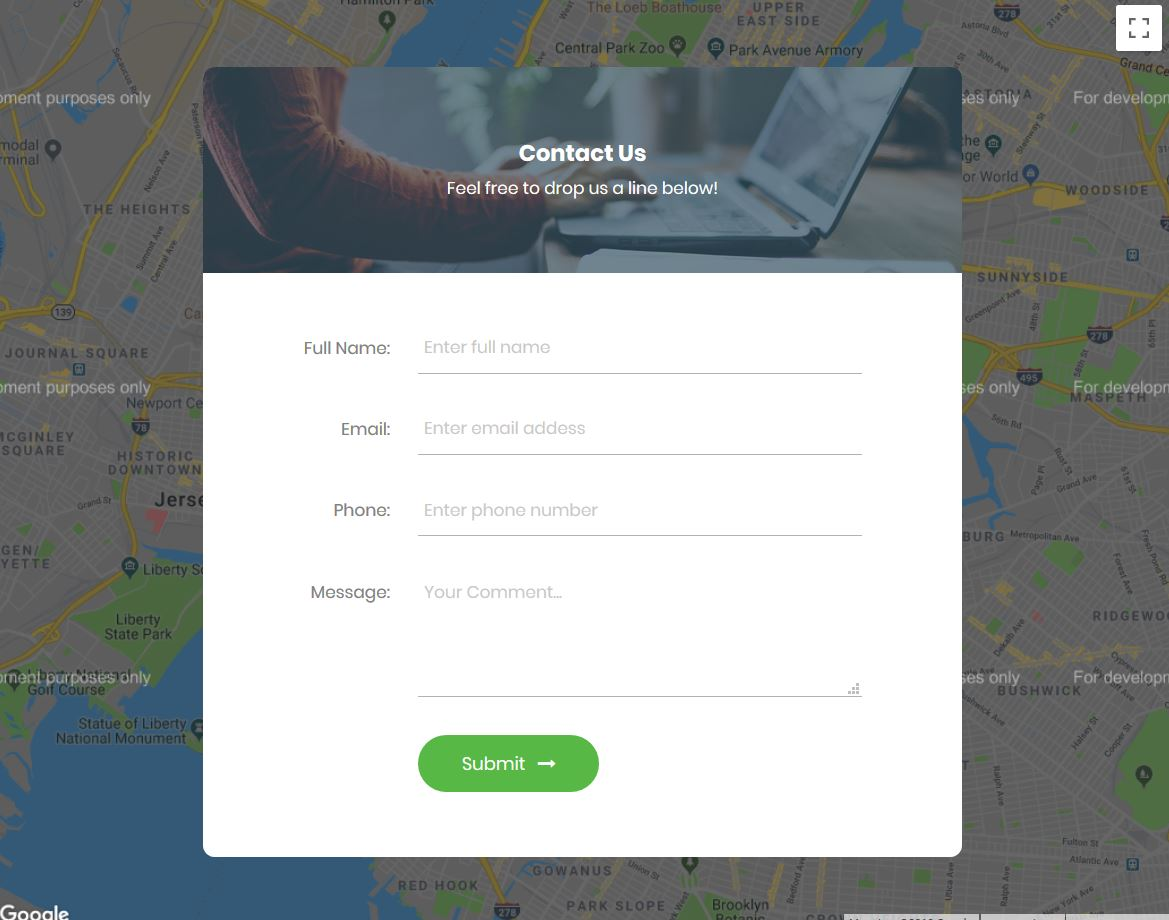 , 37 Free Awesome Bootstrap Contact Form Templates 2021, Rojak WP