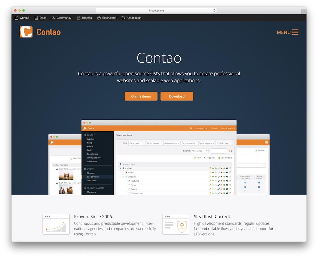 contao content management system