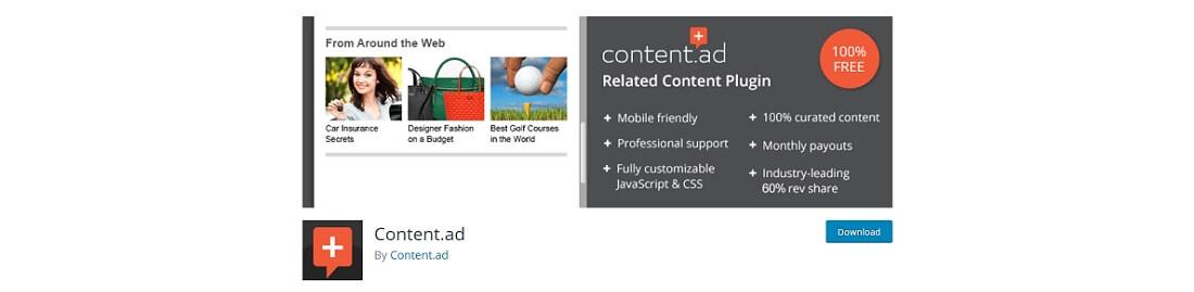 content ad plugin