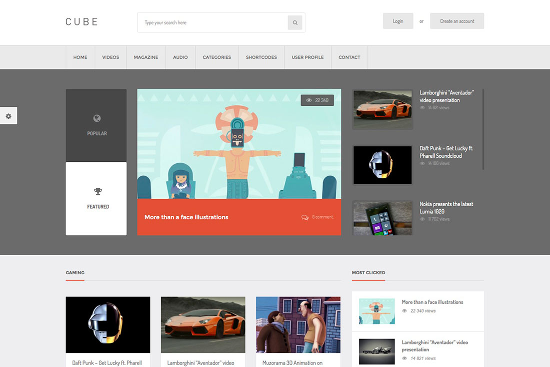 Awesome and Responsive Content Sharing WordPress Themes With Frontend Submission For Videos, Audio, Images and Links