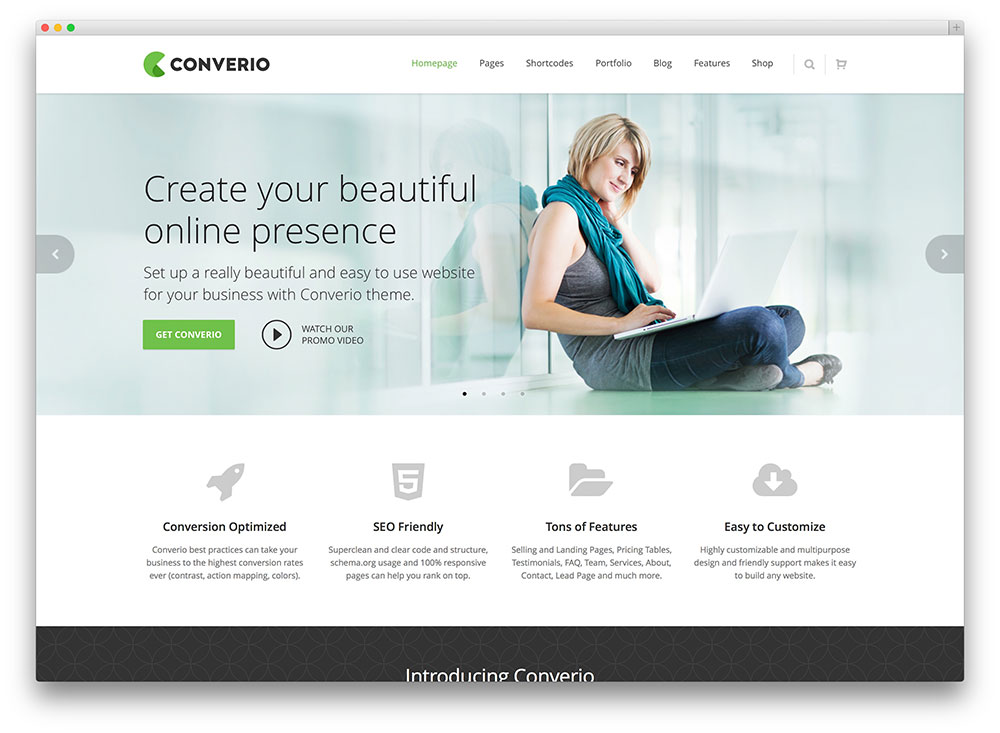 converio beaituful clean finance theme