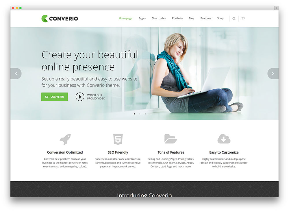 converio clean multipurpose theme