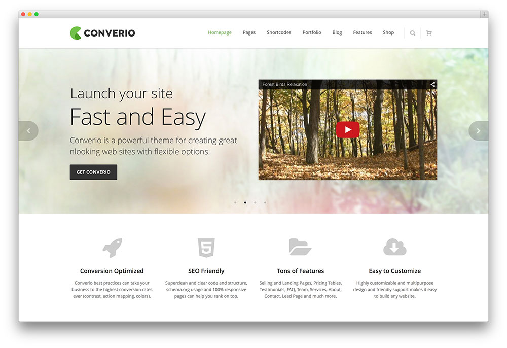 converio seo friendly wordpress theme