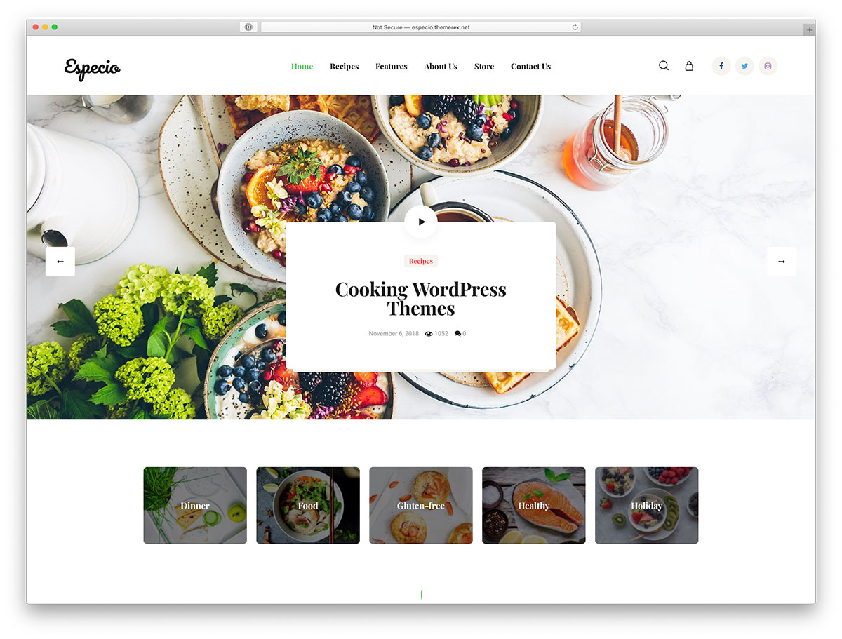 Top 10 Cooking WordPress Themes To Make Your Website A Mouthwatering Treat