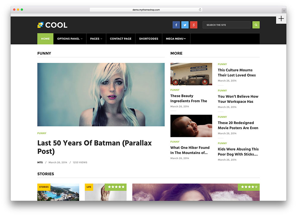 cool modern WordPress theme