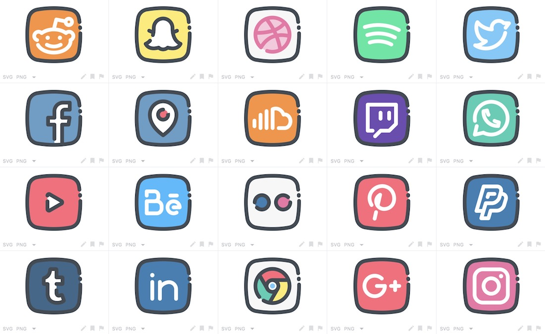 cool social media icons