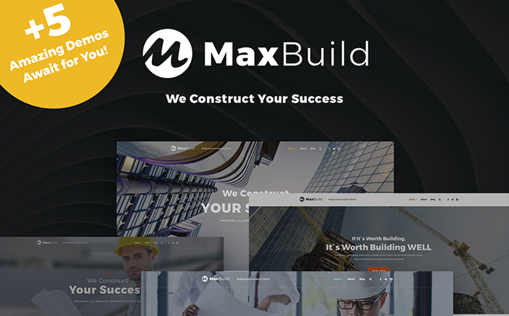 MaxBuild - Construction Multipurpose WordPress Theme