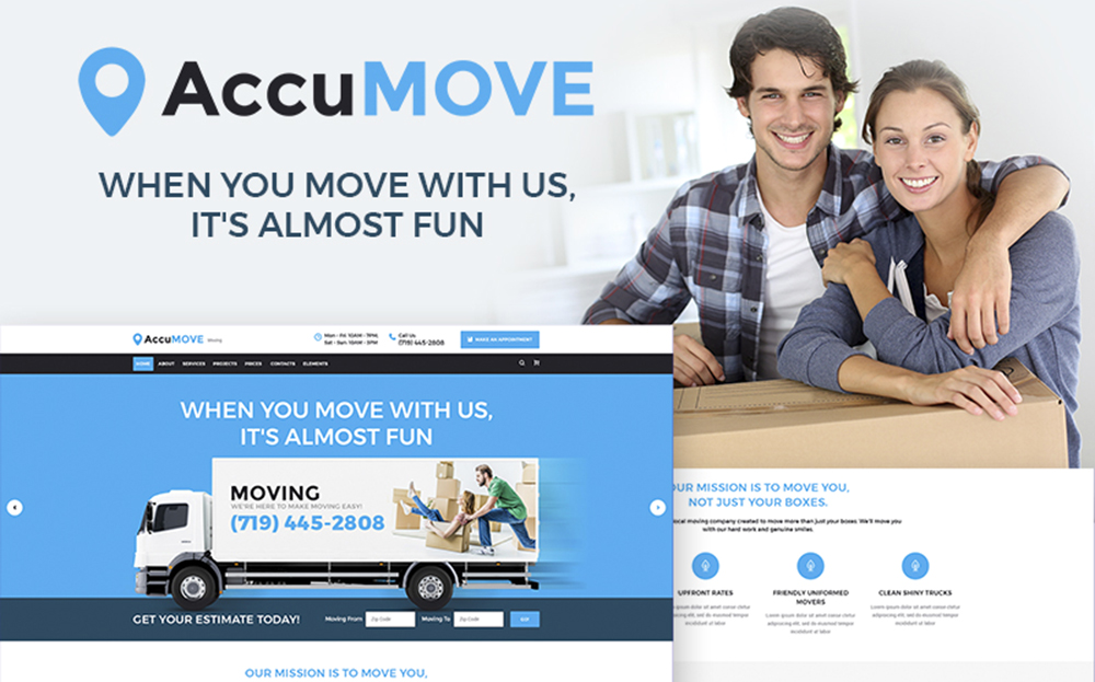 AccuMOVE! - Moving Company Responsive WordPress Theme