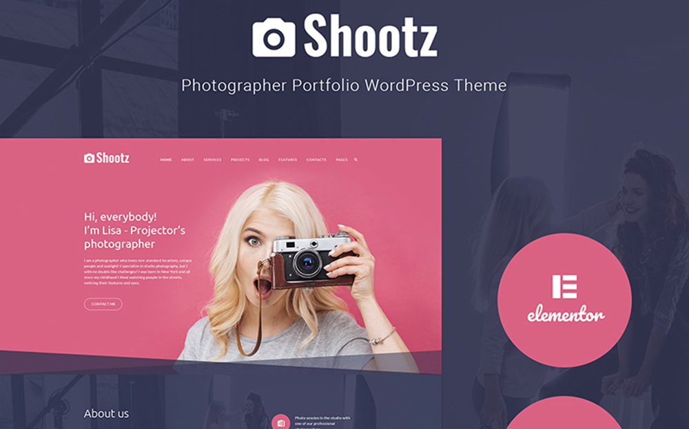 Shootz - Photographer Portfolio WordPress Theme