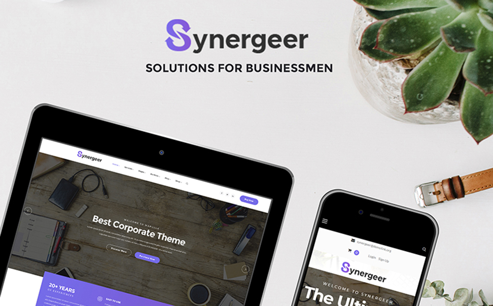 Synergeer - Corporate WordPress Theme
