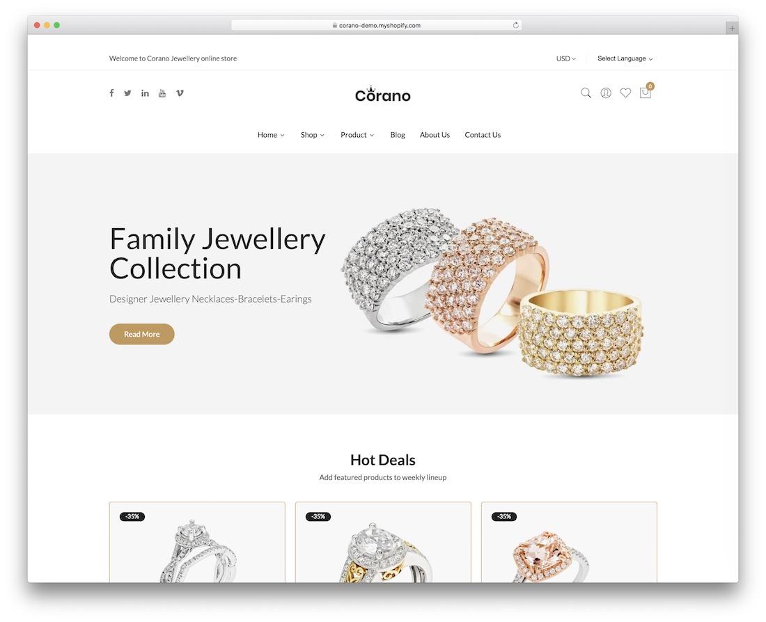 corano single product shopify theme