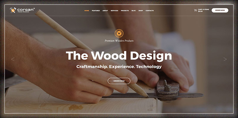 Corgan | Woodworks and Carpentry Theme