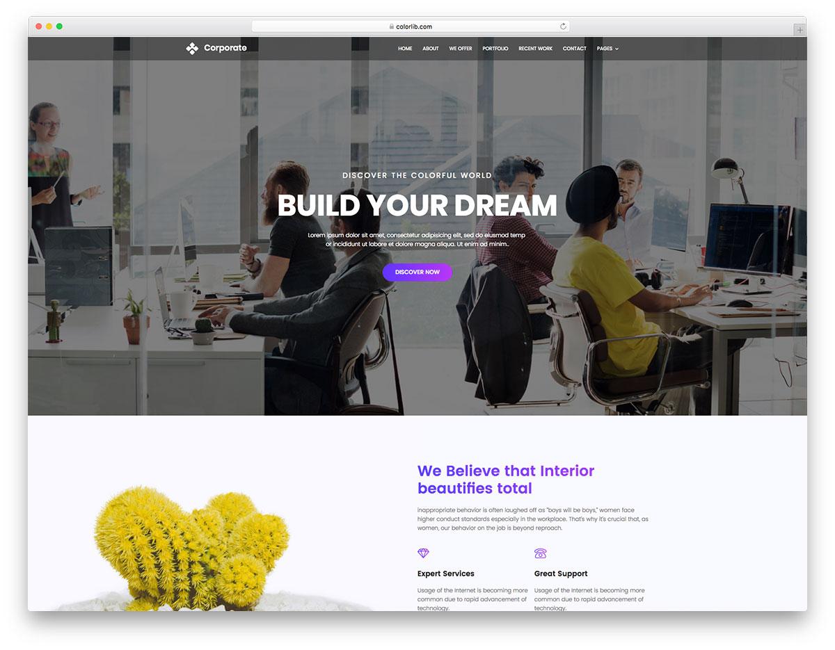 Corporate free website template