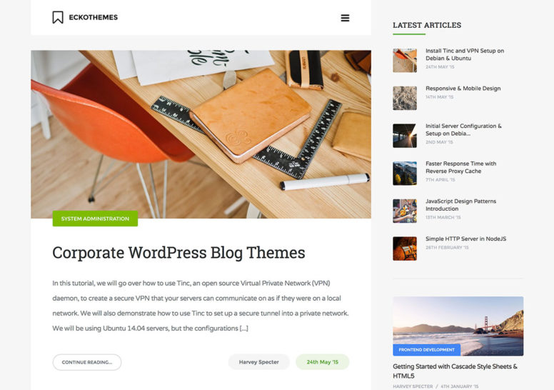 Top 20 WordPress Corporate Blog Themes To Make Your Business Stand Out 2017