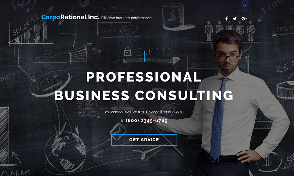 CorpoRational Business Consulting Landing Page