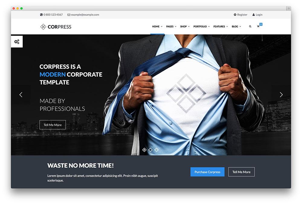 corpress expressive consultation company theme