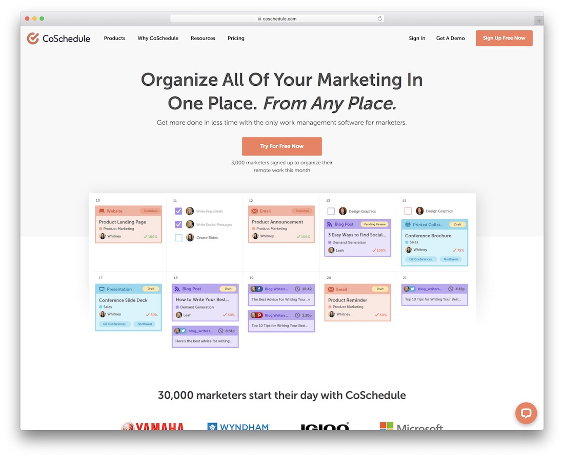 coschedule free marketing productivity tool