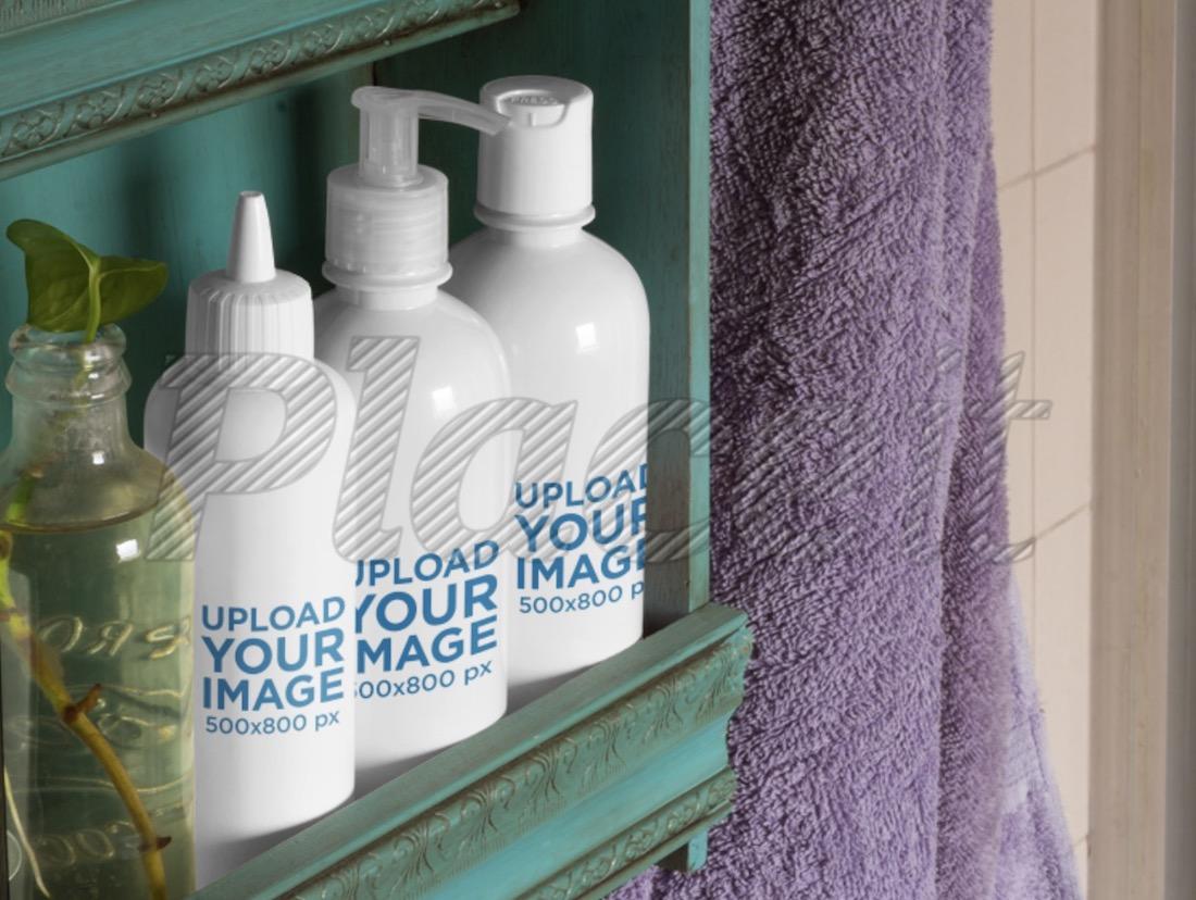 cosmetic bottles label mockup