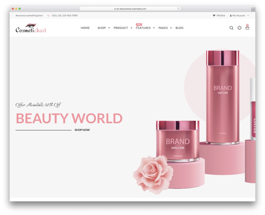cosmetic kart simple shopify theme
