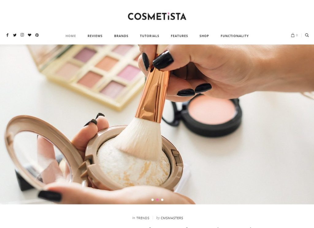 Cosmetista | Beauty & Makeup WordPress Theme