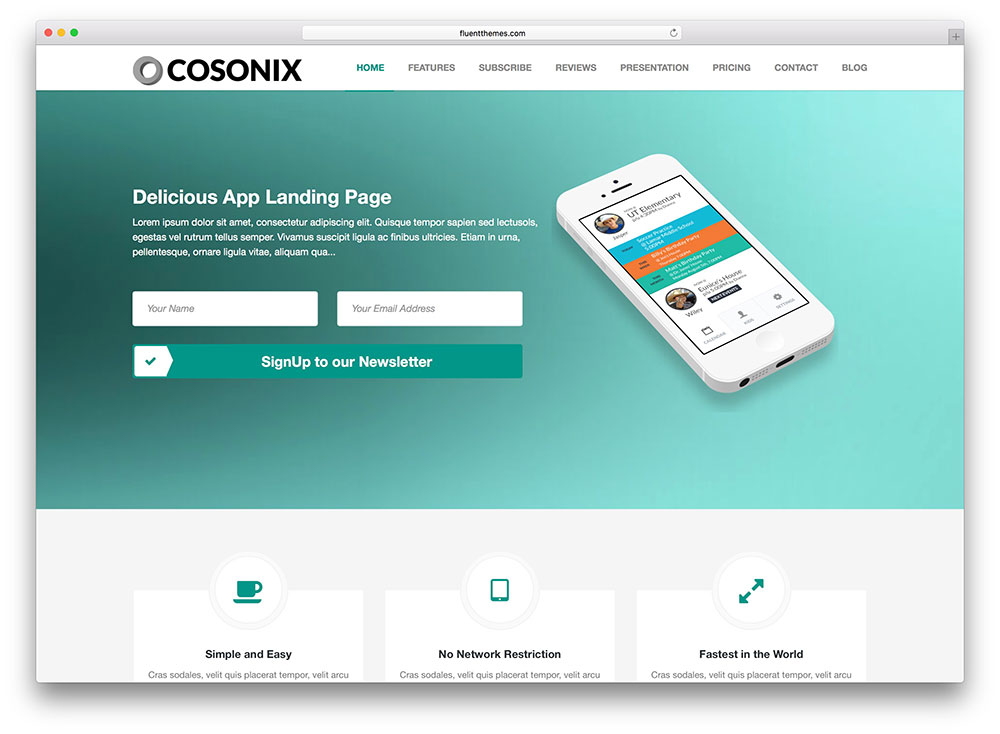 cosonix-simple-app-landing-page-wp-theme