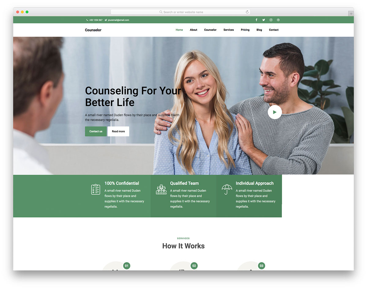 Counselor Free Template